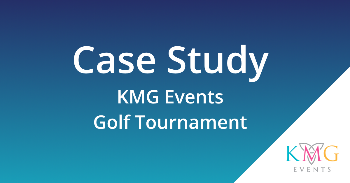 Cover Image with Case Study KMG Events Golf Tournament Written on it